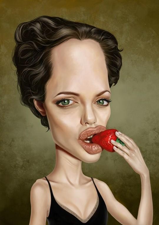 Карикатура на Анджелину Джоли