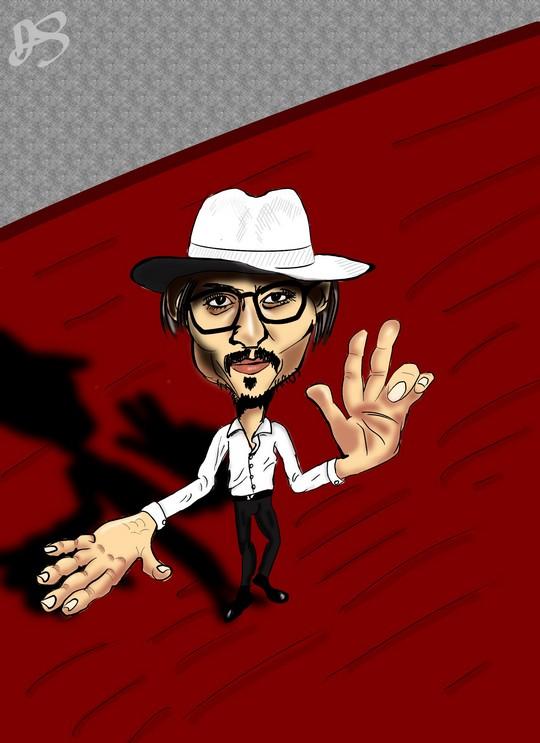 Карикатура на Джонни Деппа