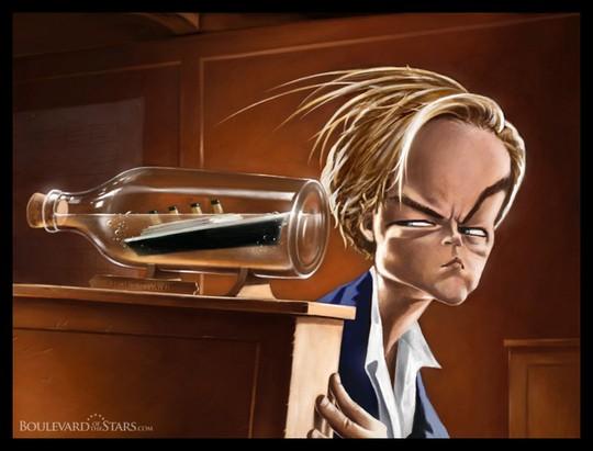Карикатура на Леонардо ДиКаприо