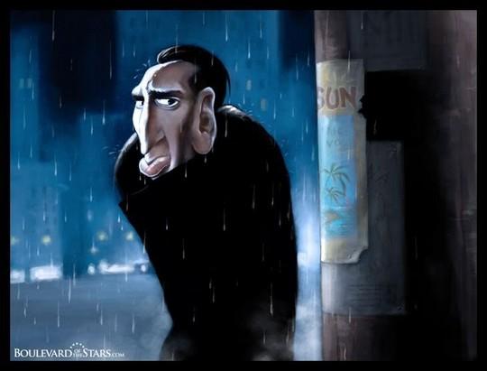Николас Кейдж карикатура