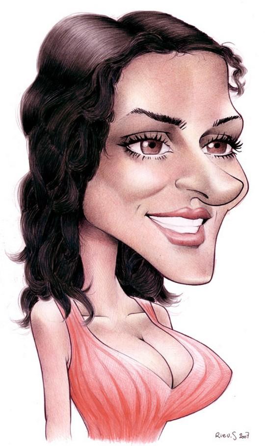 Карикатура на Сальма Хайек