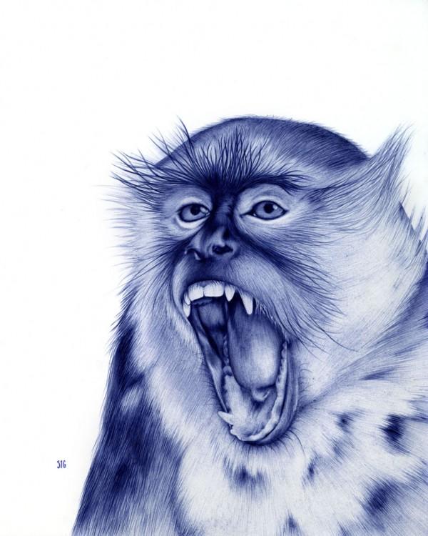 Рисунки шариковой ручкой Сары Эстее