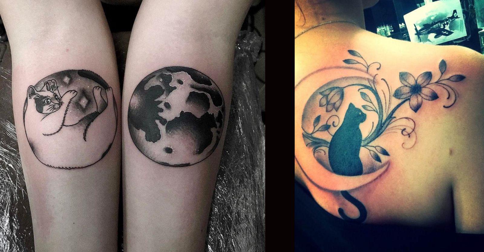 Татуировки с космическими котиками