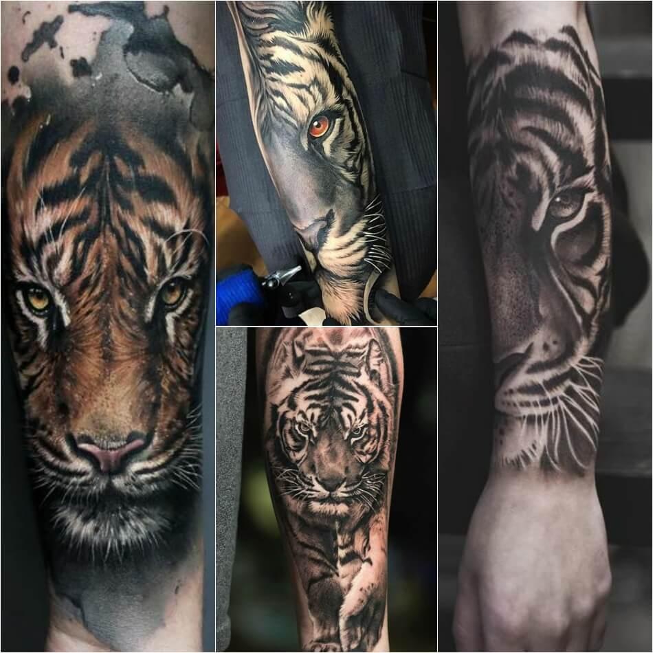 Татуировки с тигром для мужчин