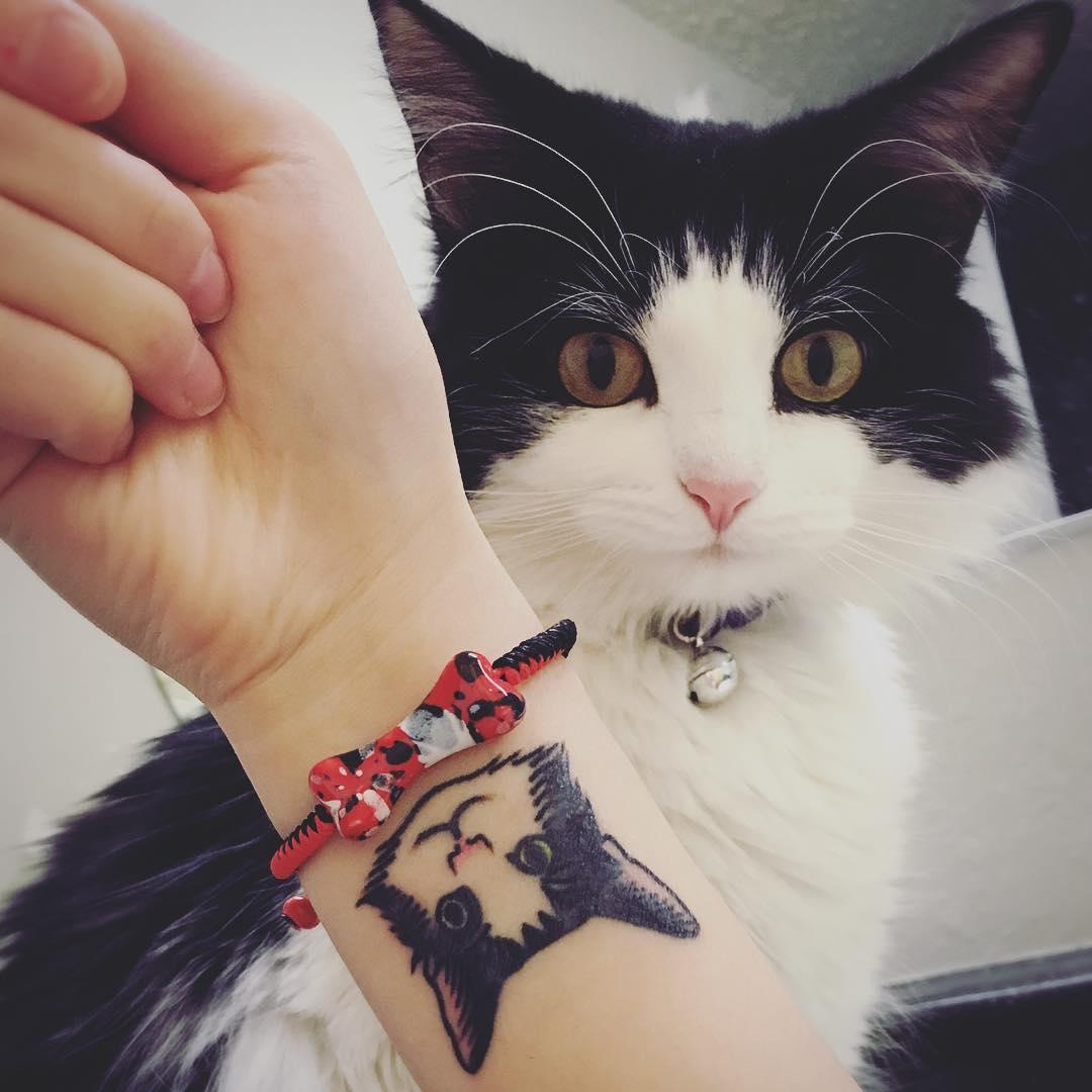Татуировка с изображением домашнего любимца