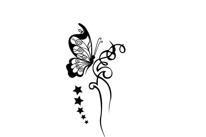 Эскиз бабочки