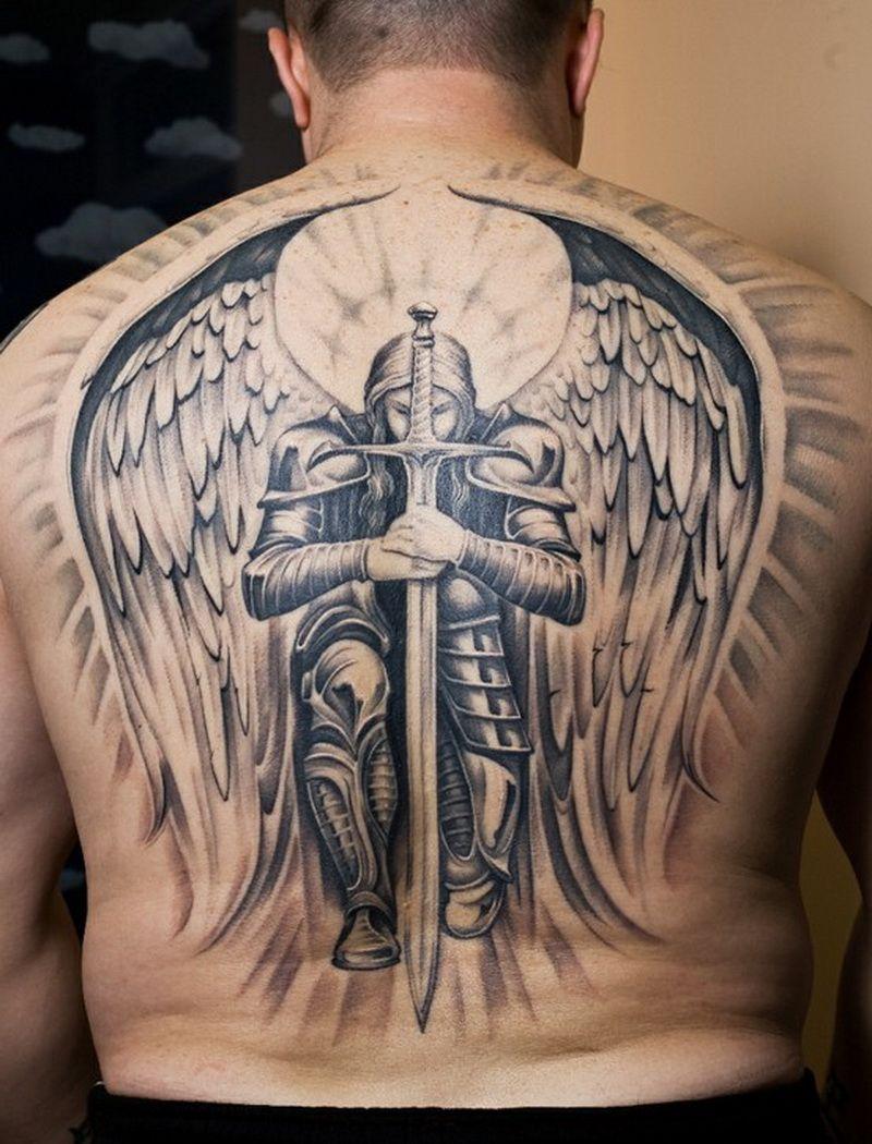 Тату ангел воин