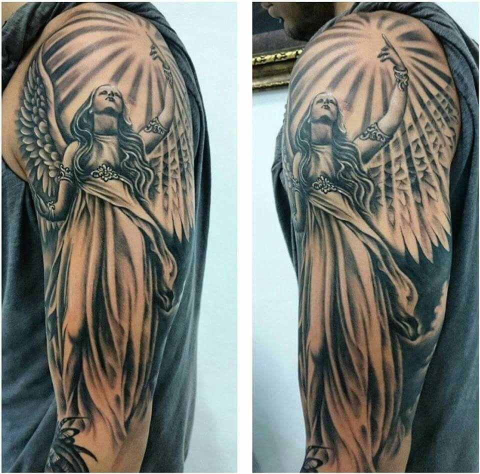 Тату ангела хранителя