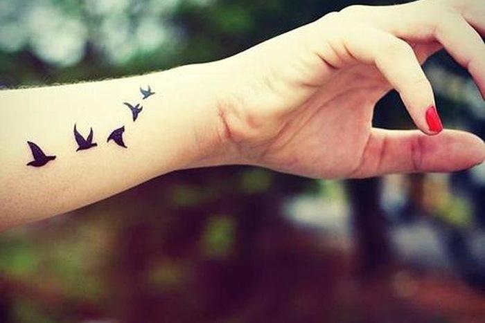 Татуировки в виде птиц