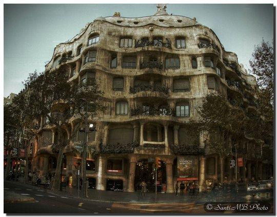 la pedrera («каменная пещера»). Барселона Испания