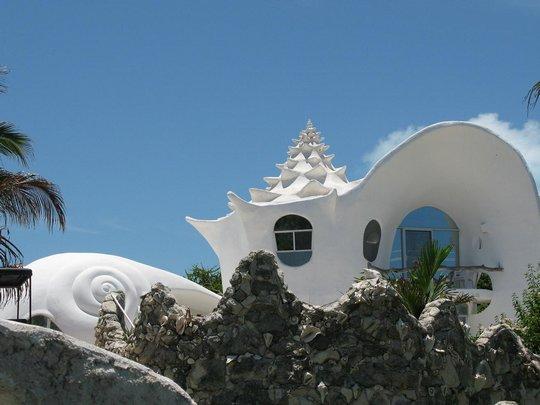 Здание ракушка. Мексика
