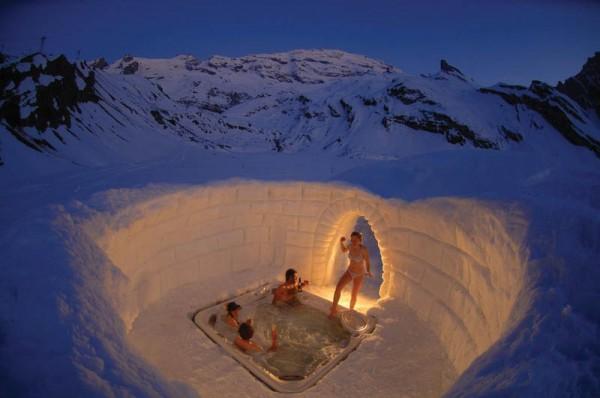 «Джакузи в Альпах», фото: Iglu-Dorf.com