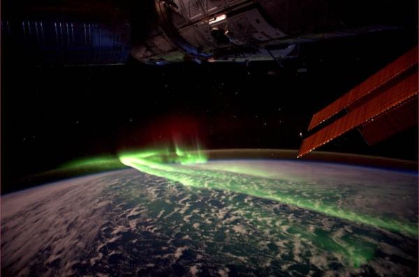 «Северное сияние из космоса», фото: André Kuipers (NASA)