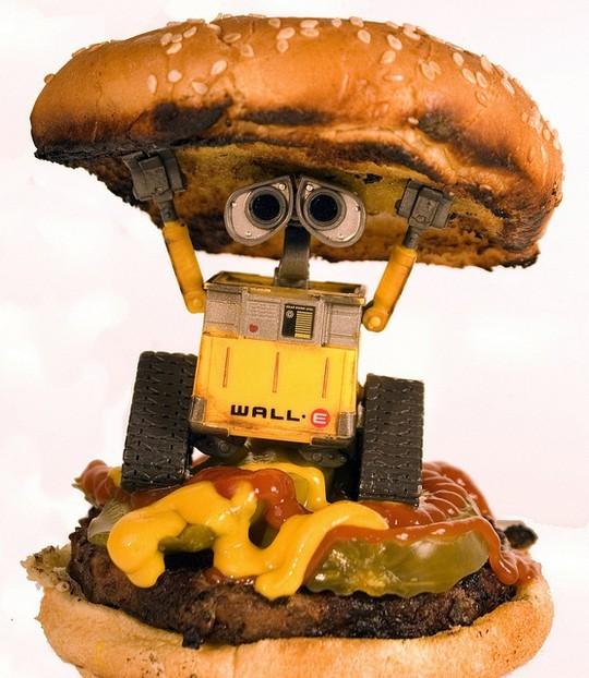 Валли в роли гамбургера. фото
