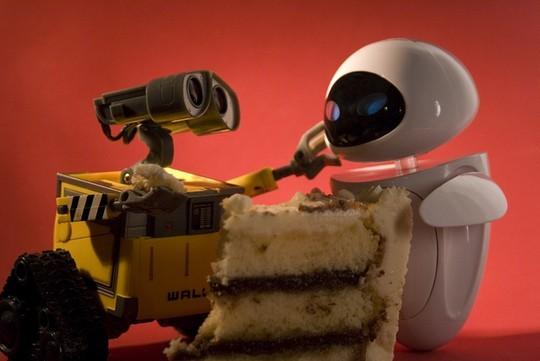 Робот Валл-и и робот Ева. Влюбленность