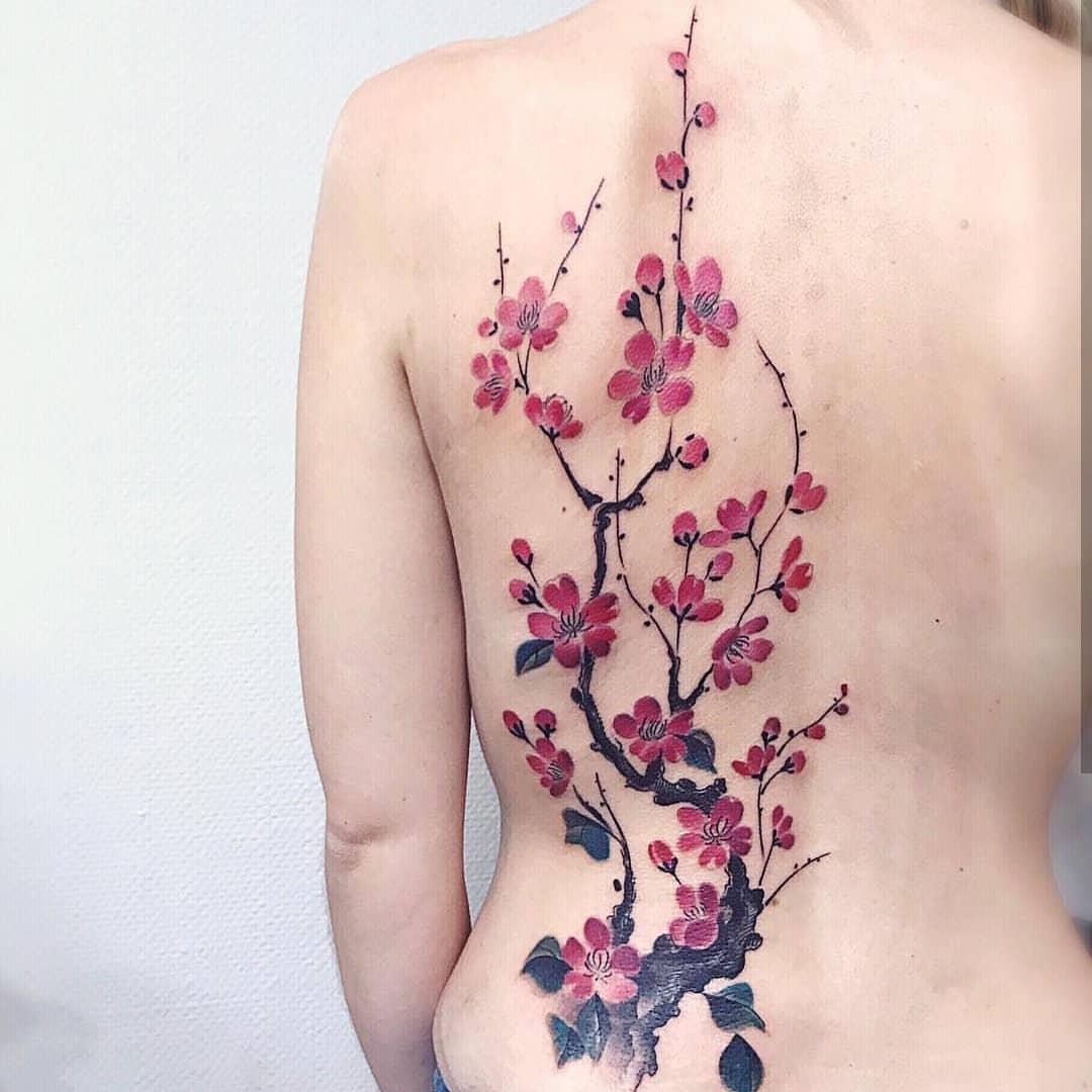 Тату Цветок Сакуры