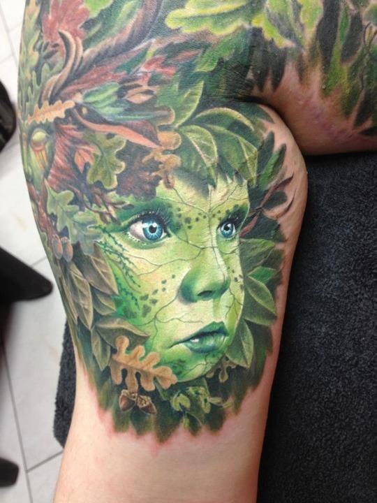 цветные татуировки у мужчины