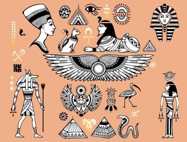 египетские символы эскизы тату