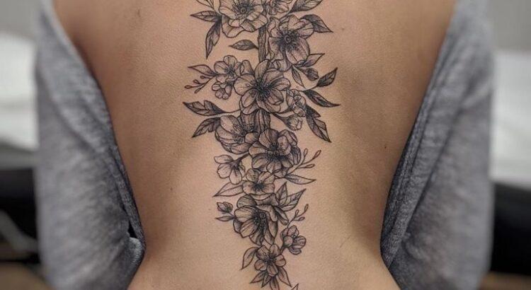 Тату сакура: значение, для девушек, ветка, эскизы, на руке, на спине, на ноге, на ключице, цветы