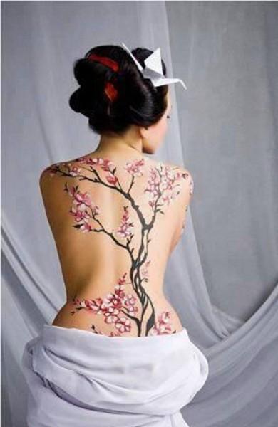 Татуировка сакура - значение, эскизы тату и фото