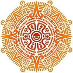 тату Символ Солнца по Майя