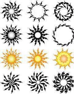 эскизы для тату солнце