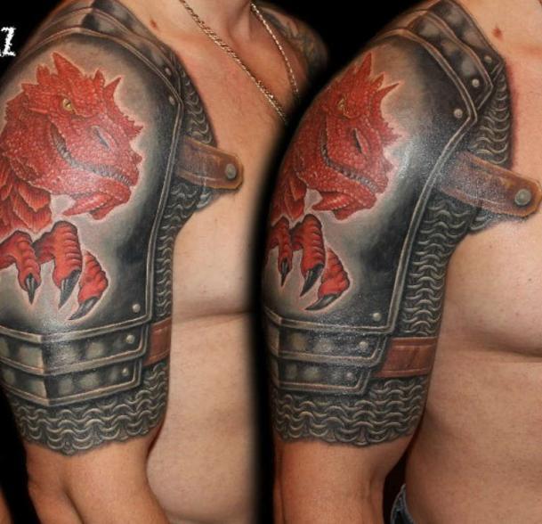 Татуировка рыцарские латы