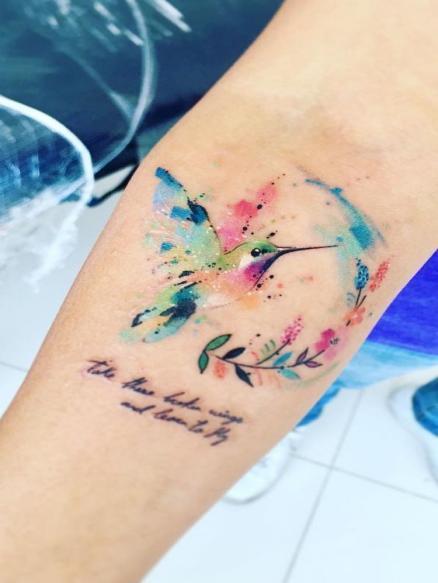 Красочная татуировка