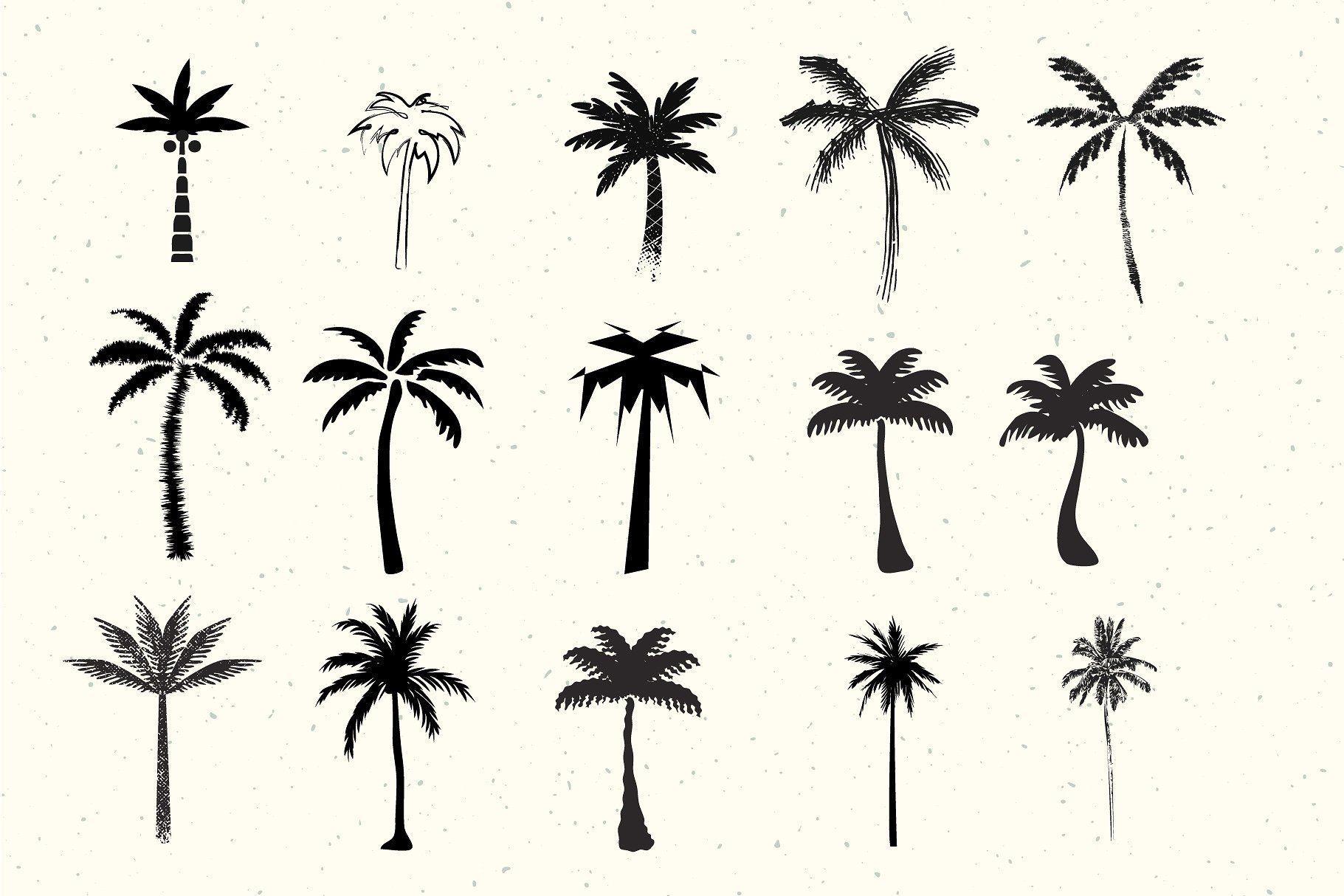 Эскизы пальмы тату