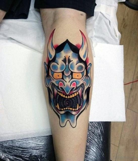 Цветное изображение рогатого демона