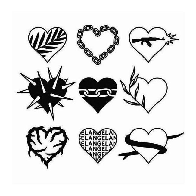Примеры миниатюрных сердец