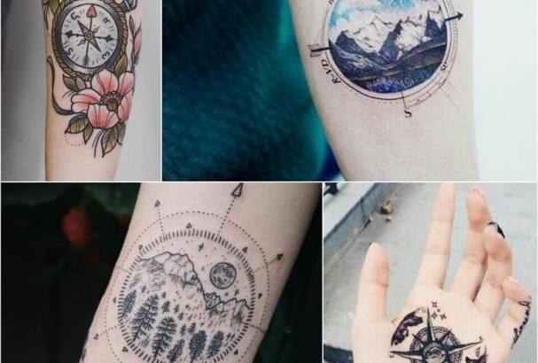 Тату Компас - Сюжеты и Эскизы Тату с Компасом | Tattoo-ideas.ru