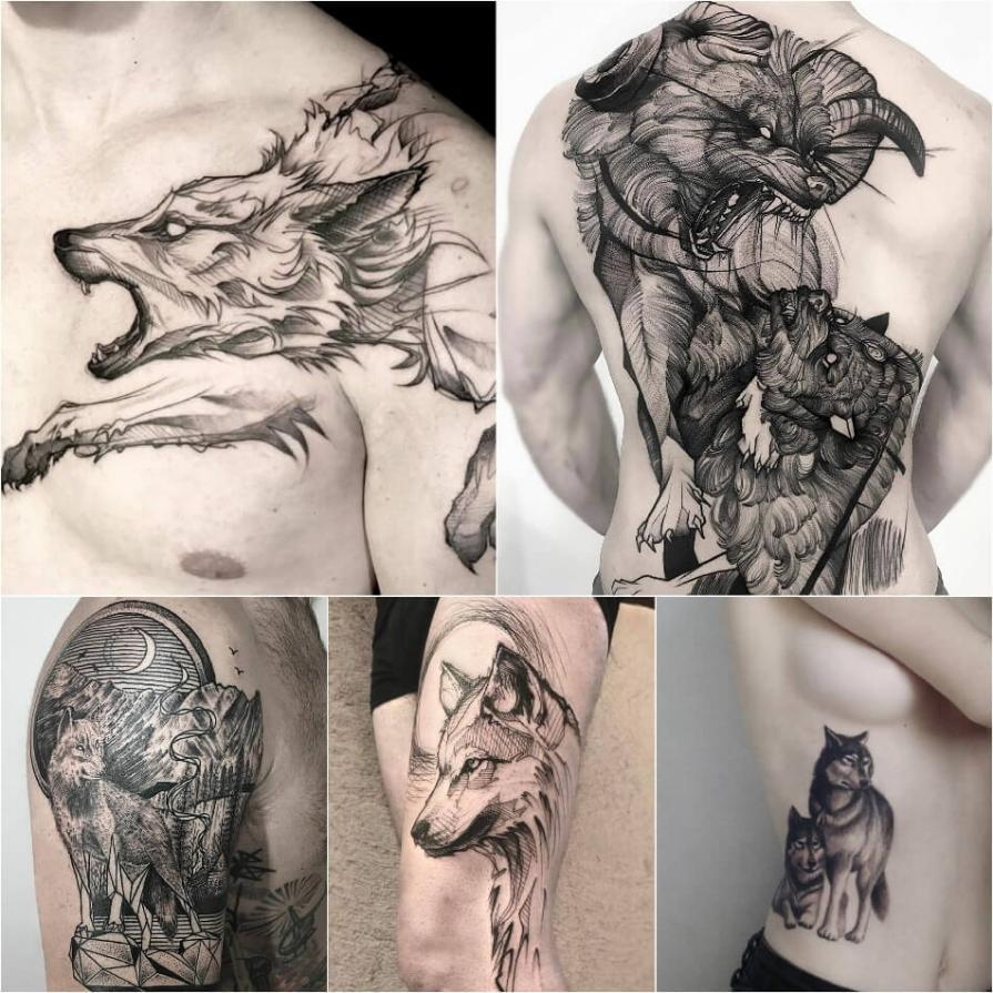 Тату волк - Тату волк значение - Тату волк значение и эскизы