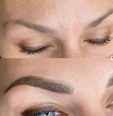 Выщипывание бровей до перманентного макияжа