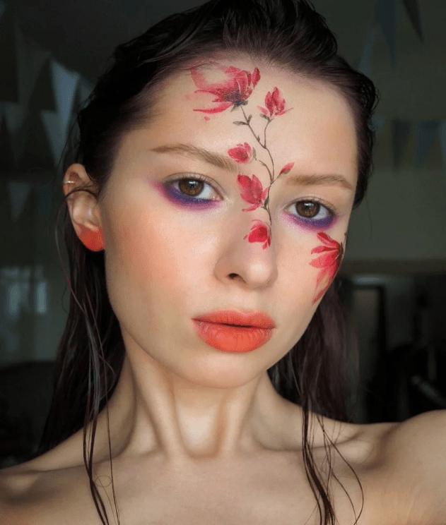 Акварельная татуировка цветка