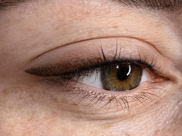 татуаж глаз растушевка