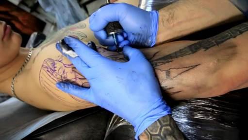 Процесс создания тату-рукава