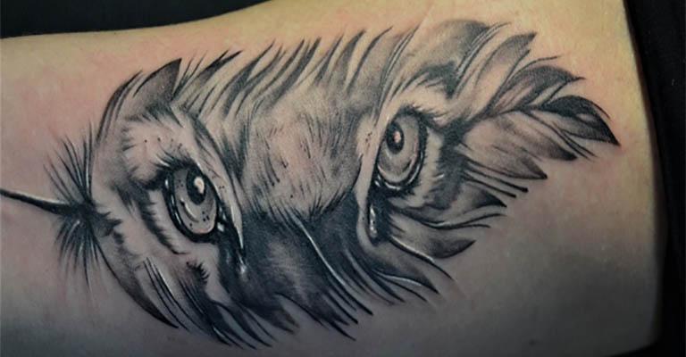 Татуировка глаза волка