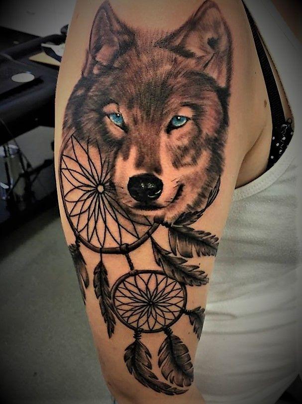 Тату волк и ловец снов