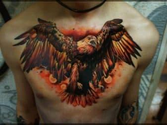 цветная тату орел