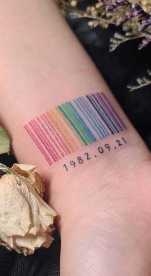 цветная тату штрих код
